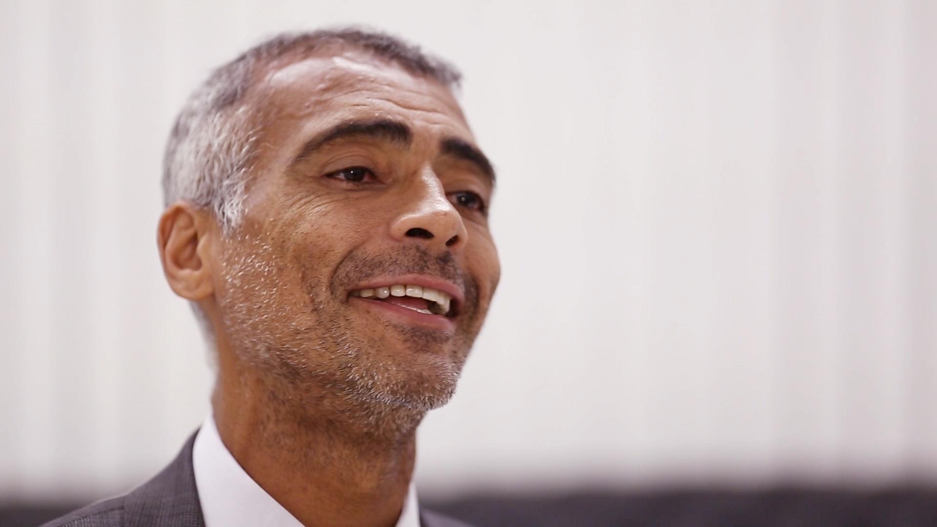 Romário em entrevista ao UOL Esporte