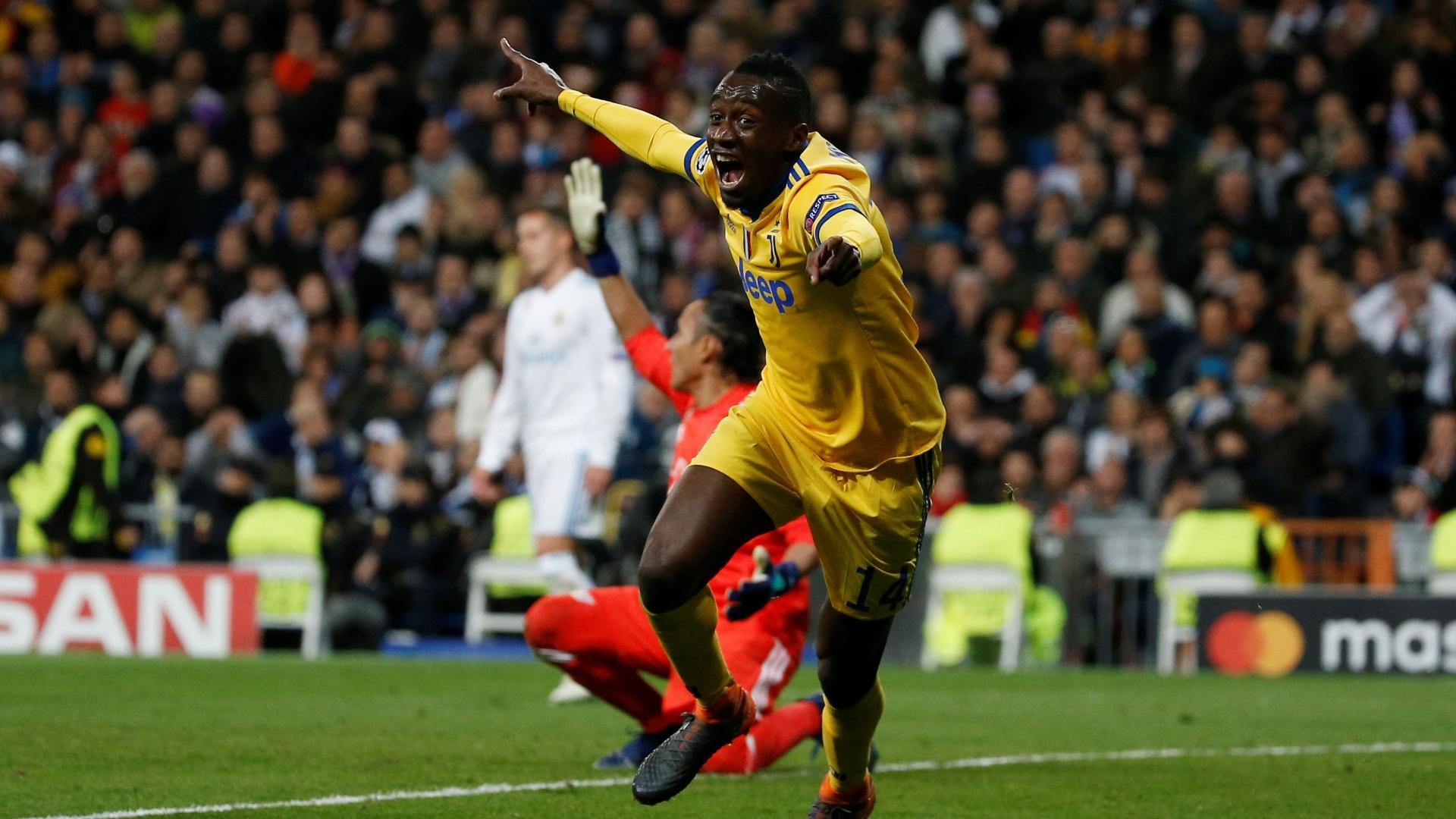Matuidi celebra o gol que deixa o confronto entre Real Madrid e Juventus empatado