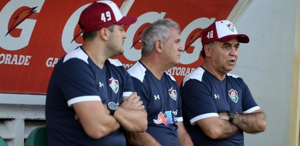 Eduardo Pacheco, Tico e Marcelo Oliveira: caras novas no banco do Fluminense