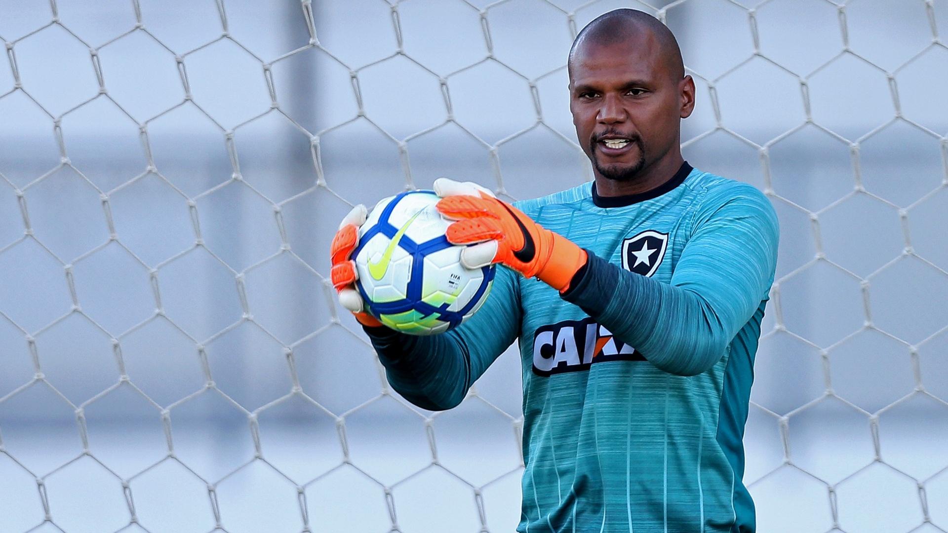 O goleiro Jefferson em treino do Botafogo