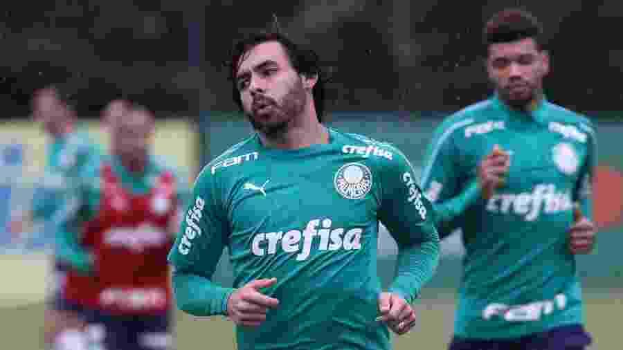 Goulart participou de treino com bola mais uma vez no Palmeiras - Cesar Greco/Ag. Palmeiras/Divulgação