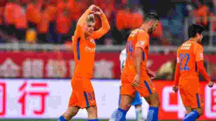 Róger Guedes, hoje no Shandong Luneng, está na mira do Atlético-MG - Shandong Luneng/Site oficial