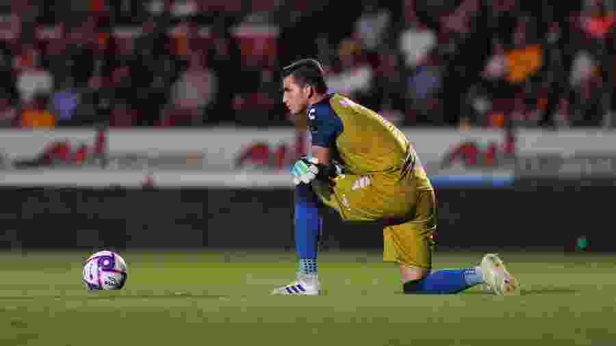 Sebastian Jurado, goleiro do Veracruz, durante partida contra o Tigres - VICTOR CRUZ / AFP