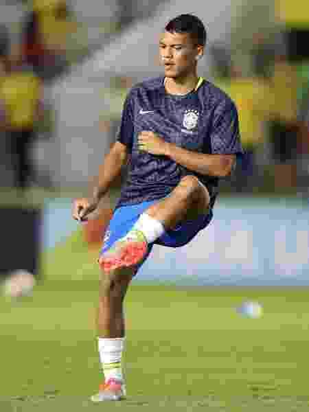 Gabriel Veron, do Palmeiras e da seleção brasileira, em ação pela equipe - SERGIO MORAES/REUTERS