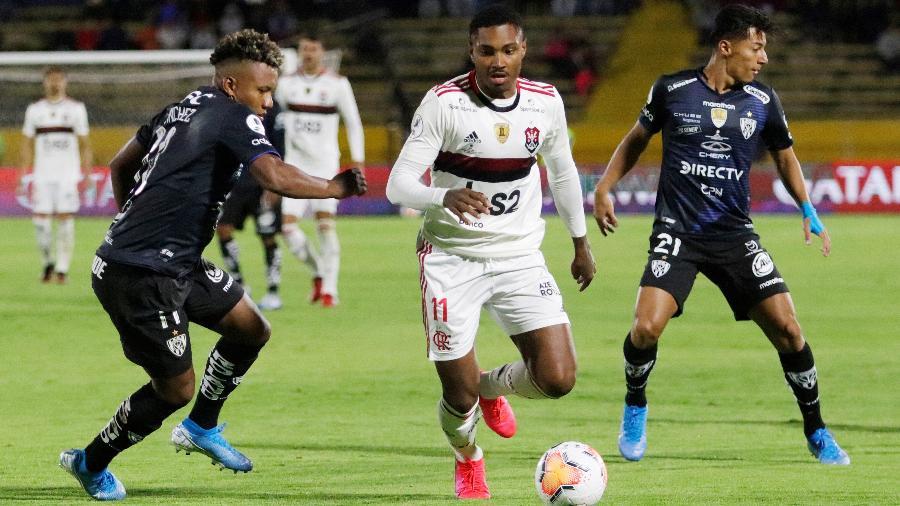 Flamengo e Independiente del Valle ficaram no empate no duelo em Quito, no Equador - Daniel Tapia/Reuters
