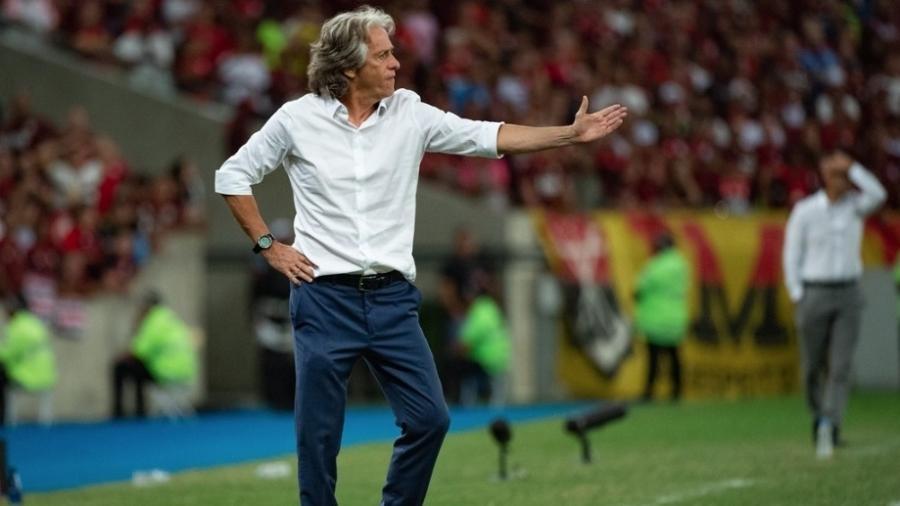 Flamengo divulgou, ontem (18), que segundo teste de Jorge Jesus deu negativo para coronavírus - Foto: Alexandre Vidal / Flamengo