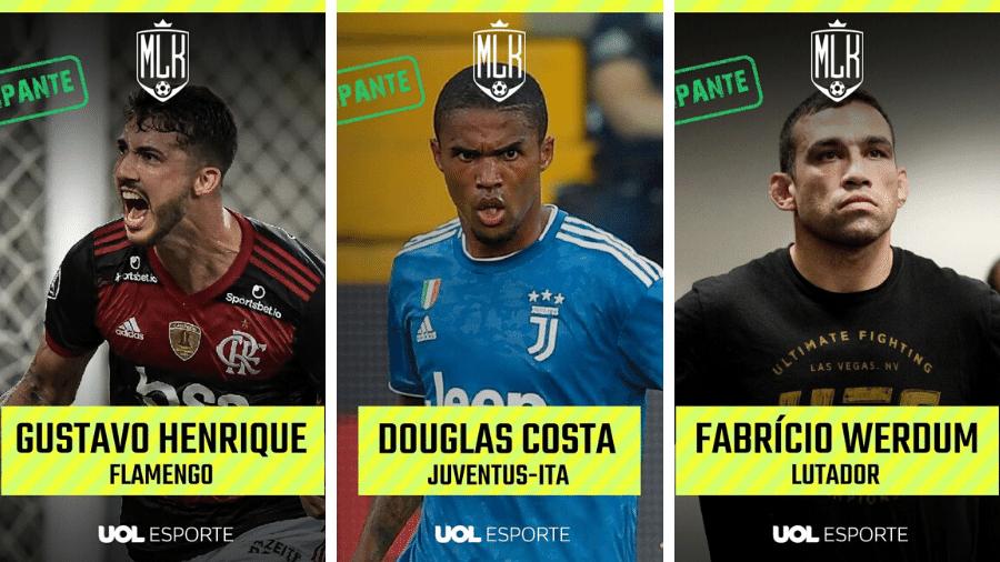Gustavo Henrique, Douglas Costa e Fabrício Werdum estão entre os participantes do torneio - UOL