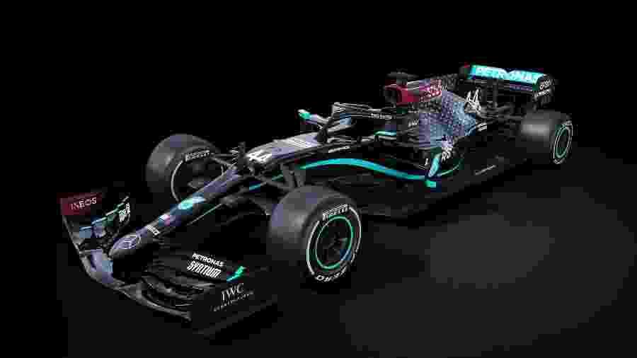 As cores da Mercedes para a temporada 2020 da Fórmula 1  - Mercedes/Divulgação