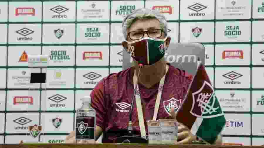 Técnico do Fluminense, Odair Hellmann ficou satisfeito com o desempenho da equipe na vitória sobre o Botafogo - Daniel Perpétuo/Fluminense FC