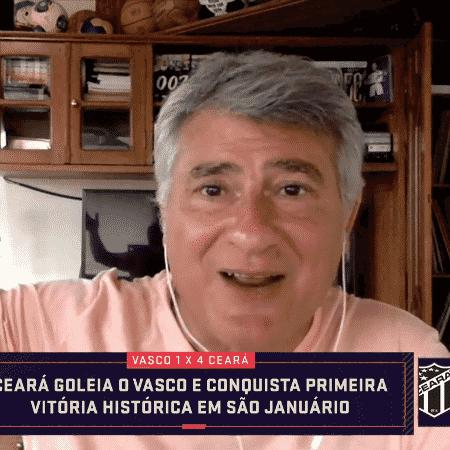 Cléber Machado foi atrapalhado por trovões durante o Seleção SporTV - Reprodução/SporTV