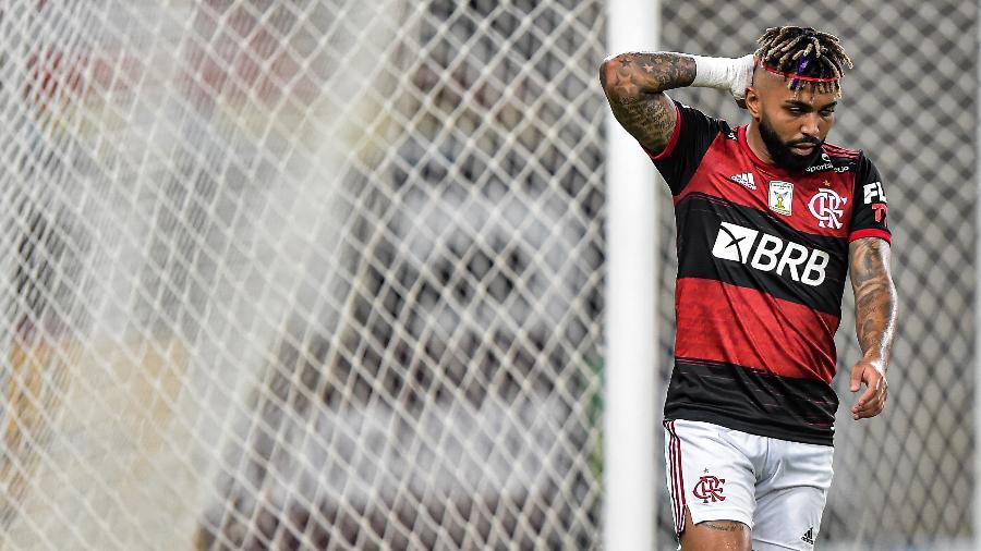 Gabigol está no centro de uma polêmica com o Flamengo após lesão e ausência em jogo - Thiago Ribeiro/AGIF