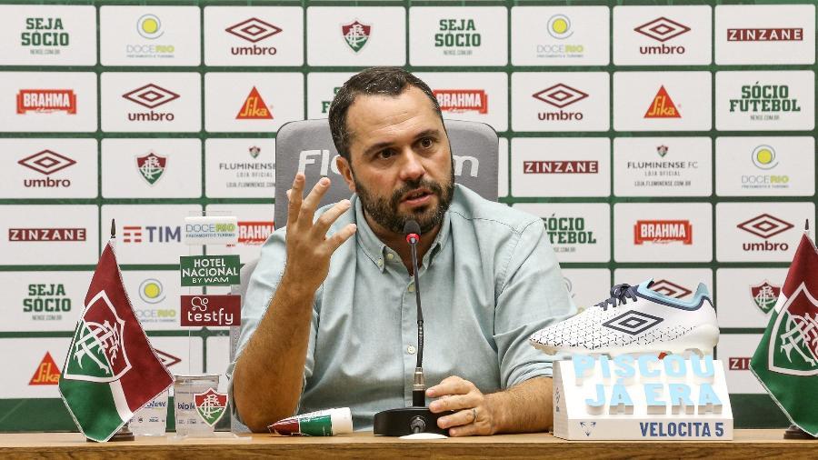 Presidente do Fluminense, Mário Bittencourt visitou a CBF por explicações sobre a arbitragem no Brasileirão - Lucas Mercon/Fluminense FC