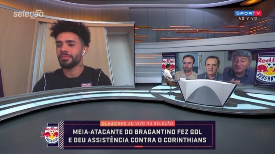 """Claudinho """"culpa"""" falta de confiança por pouco espaço no Corinthians - Reprodução/SporTV"""