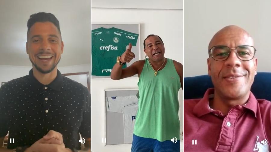 Cicinho, Oséas e Alex Silva são algumas das personalidades cadastradas em plataforma de engajamento - Montagem sobre Reprodução