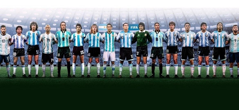 """Time das """"lendas argentinas"""" postado pela Fifa nesta quinta - Reprodução Fifa"""