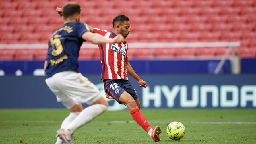 Renan Lodi marcou o primeiro gol do Atlético de Madri contra o Osasuna - NurPhoto/NurPhoto via Getty Images