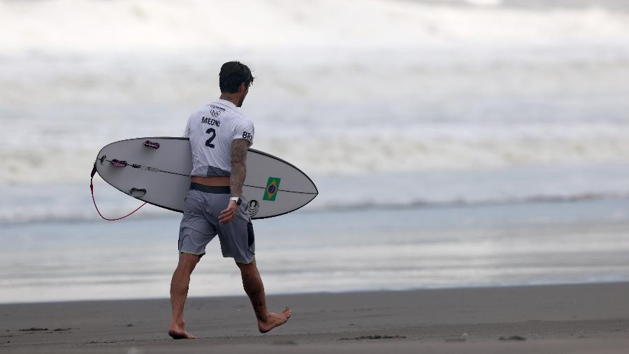 Gabriel Medina fica desolado após derrota nas Olimpíadas de Tóquio - Ryan Pierse/Getty Images