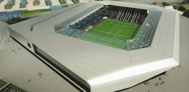 Nova arena do Santos pode ter capacidade até para 30 mil torcedores - Divulgação / Conexão 3