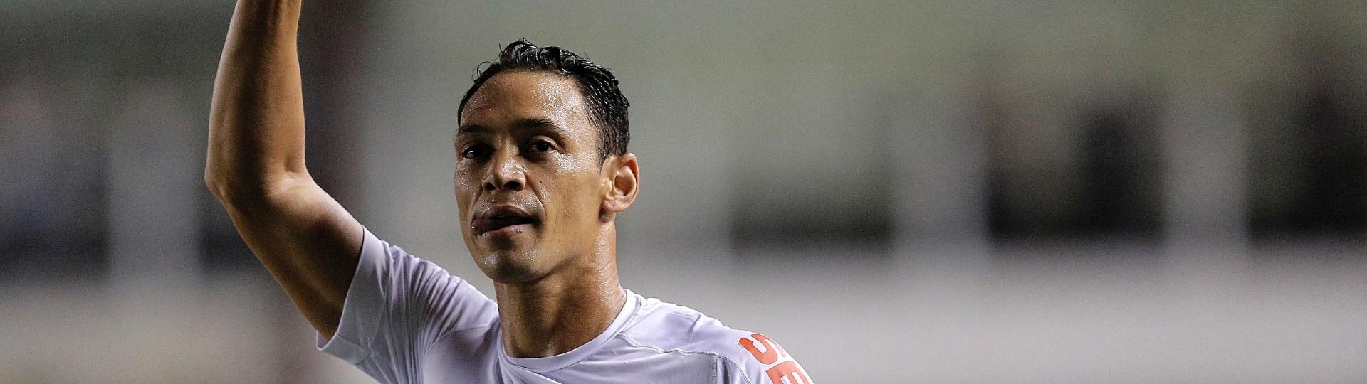Ricardo Oliveira comemora gol do Santos contra o Vasco pelo Campeonato Brasileiro