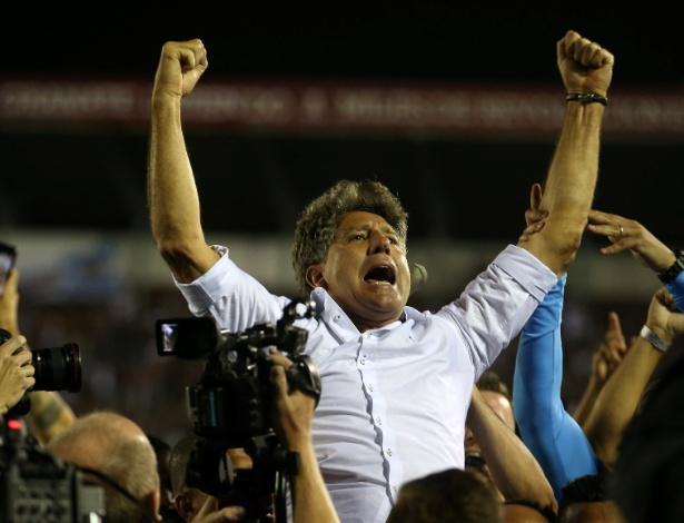 Renato Gaúcho comemora o título da Libertadores