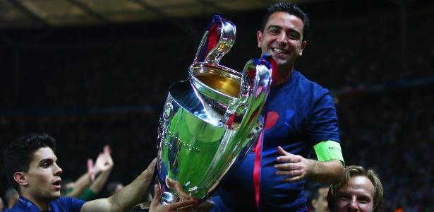 Xavi defendeu o Barcelona até 2015 - Paul Gilham/Getty Images