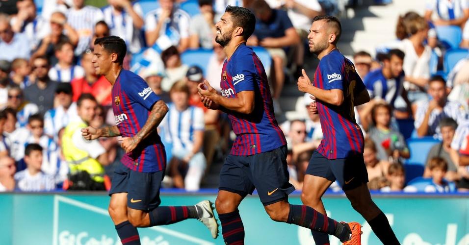 Luis Suárez, autor do primeiro gol do Barcelona contra a Real Sociedad