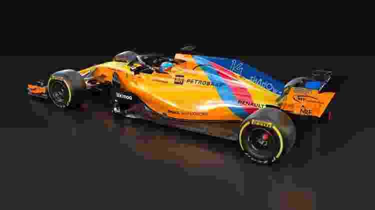 e02826a151 F1  McLaren faz chassi especial para despedida de Fernando Alonso da ...