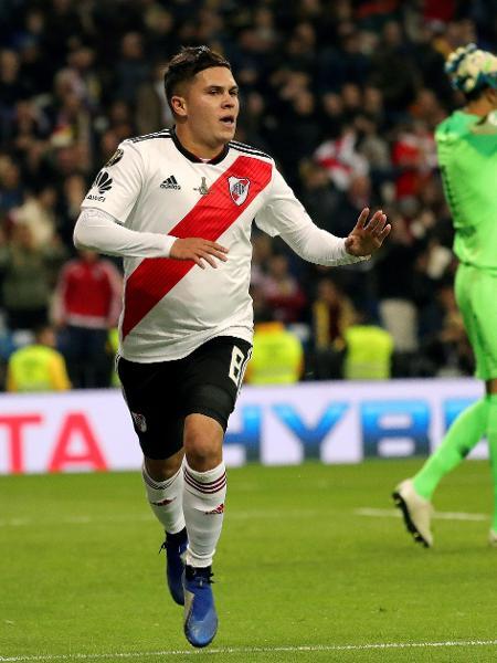 Juan Quintero comemora gol da virada do River Plate - JuanJo Martin/EFE