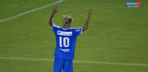 Neymar comemora gol em amistoso beneficente em Uberlândia - reprodução/SporTV