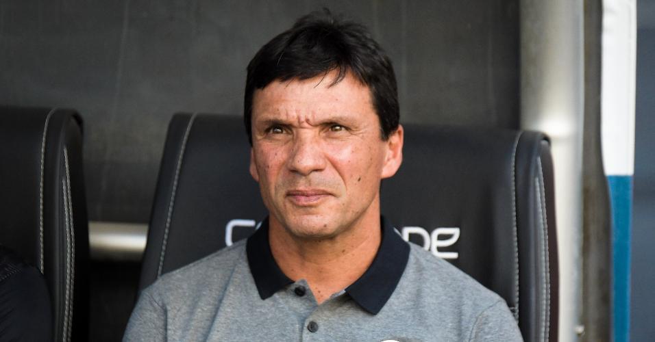 Zé Ricardo, técnico do Botafogo, acompanha o jogo contra o Flamengo
