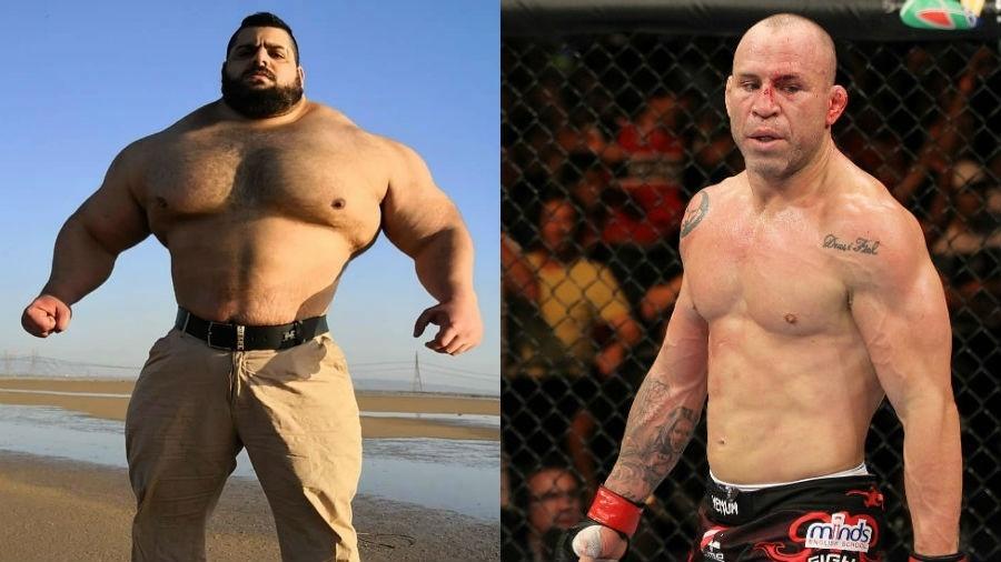Quem venceria o duelo entre Hulk do Irã e Wanderlei Silva? - Reprodução Instagram/Josh Hedges/Zuffa LLC/Zuffa LLC via Getty Images