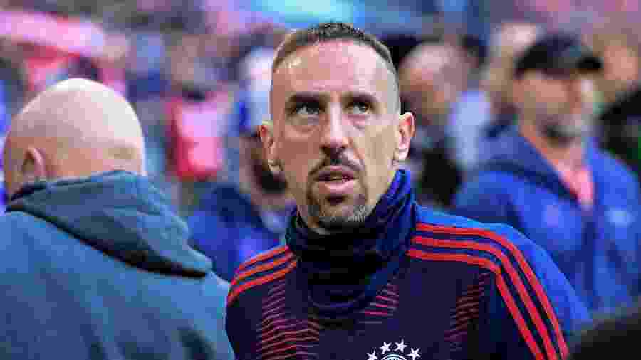 Franck Ribery se despediu do Bayern de Munique - Tobias SCHWARZ / AFP