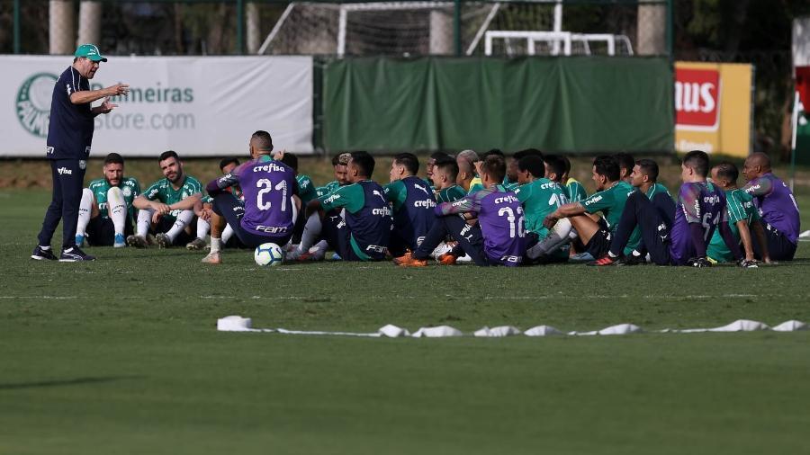 Vanderlei Luxemburgo comanda treino no Palmeiras - Cesar Greco/Ag. Palmeiras/Divulgação
