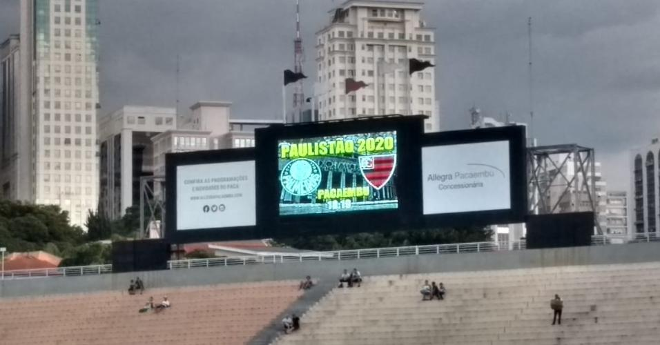 Palmeiras telão Pacaembu