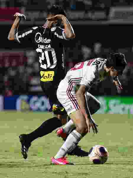 Igor Gomes e Camacho no duelo entre São Paulo e Corinthians - Daniel Vorley/AGIF