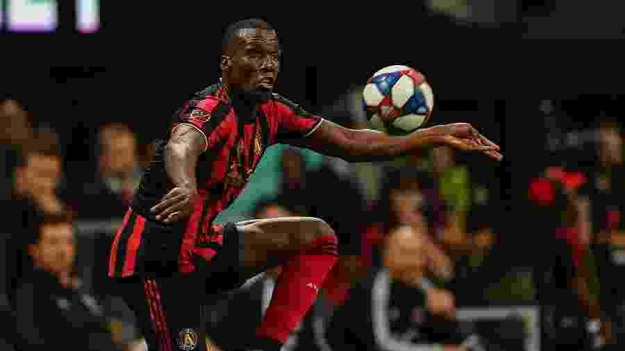 Florentin Pogba, irmão de Paul Pogba, em ação pelo Atlanta United, dos EUA, seu último clube antes de assinar com o Sochaux - Rich von Biberstein/Icon Sportswire via Getty Images