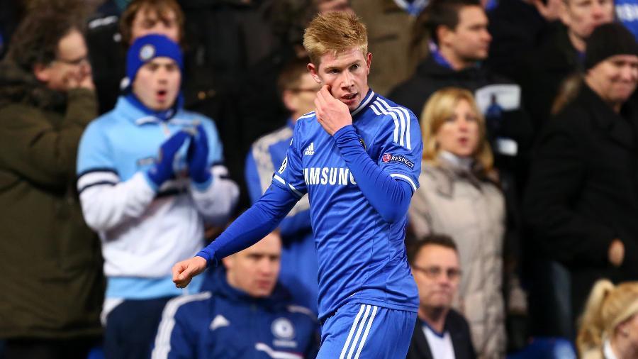 Kevin De Bruyne em um jogo do Chelsea em 2013 - Matthew Ashton/Corbis via Getty Images