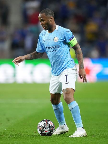 Raheem Sterling, do Manchester City, durante a final da Liga dos Campeões - Manchester City FC via Getty Images