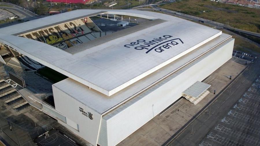Nova cobertura da Neo Química Arena, a casa do Corinthians  - Reprodução