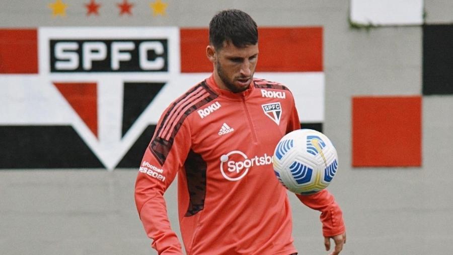 Jonathan Calleri foi relacionado para a partida entre São Paulo e Atlético-GO - Erico Leonan / saopaulofc