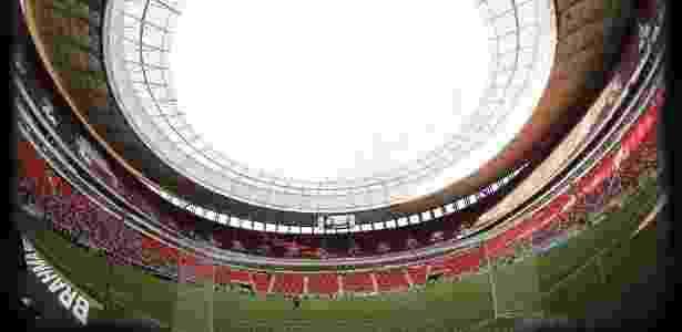 """O estádio Mané Garrincha receberá o """"Clássico dos Milhões"""" no próximo domingo - Gilvan de Souza/ Flamengo"""