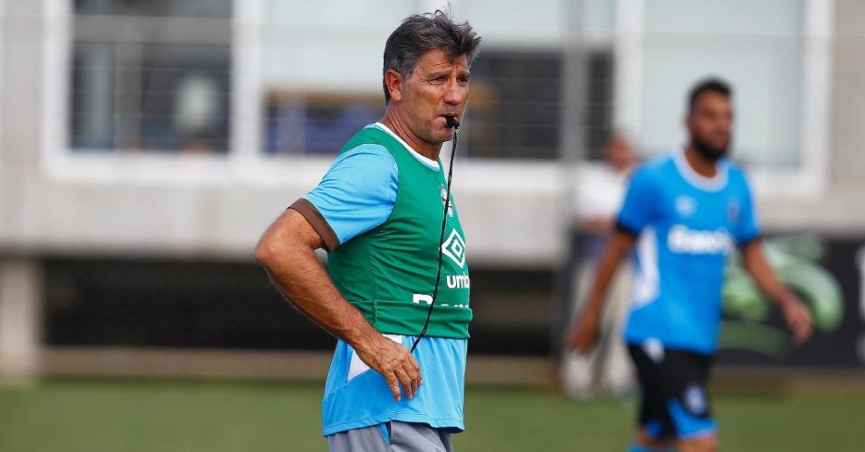 Renato Gaúcho tem a difícil tarefa de mobilizar os jogadores do Grêmio no Brasileiro