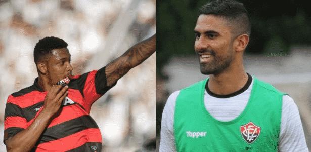 David e Tréllez foram destaques do Vitória na temporada 2017 - Montagem/UOL