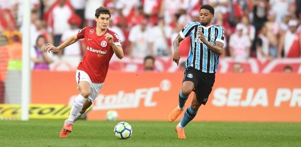 O volante Rodrigo Dourado sente dores no pé direito desde o clássico Gre-Nal  - Ricardo Duarte/Inter