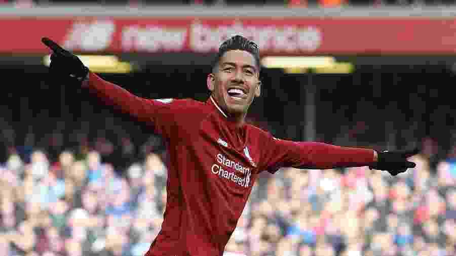 Firmino, que não marcava desde 19 de janeiro, fez gois gols contra o Burnley - PAUL ELLIS/AFP