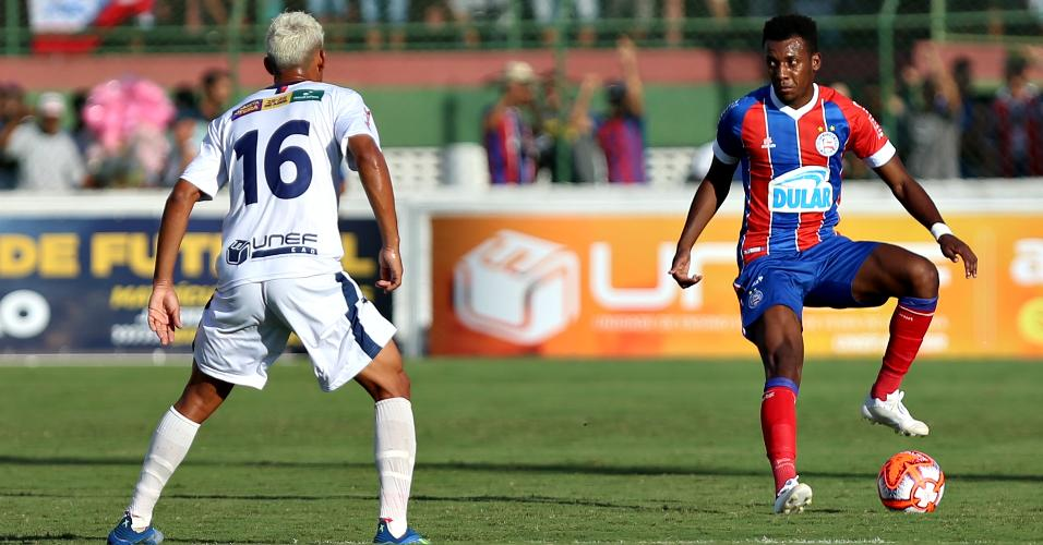 Bahia e Bahia de Feira ficaram no empate por 1 a 1