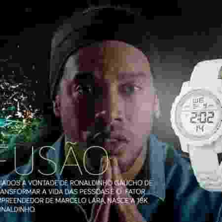 Ronaldinho em campanha publicitária da 18KRonaldinho - Divulgação