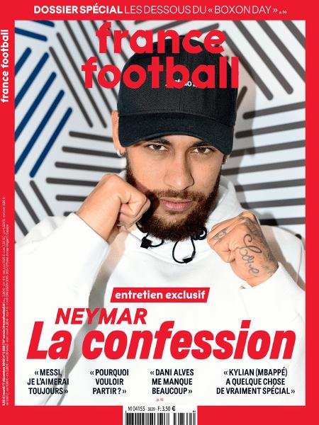 Neymar na capa da revista France Football - Divulgação