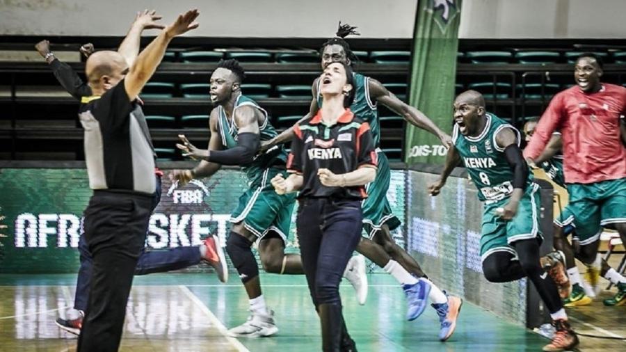 Liz Mills, do Quênia, é a primeira mulher a comandar uma seleção masculina de basquete - Arquivo Pessoal