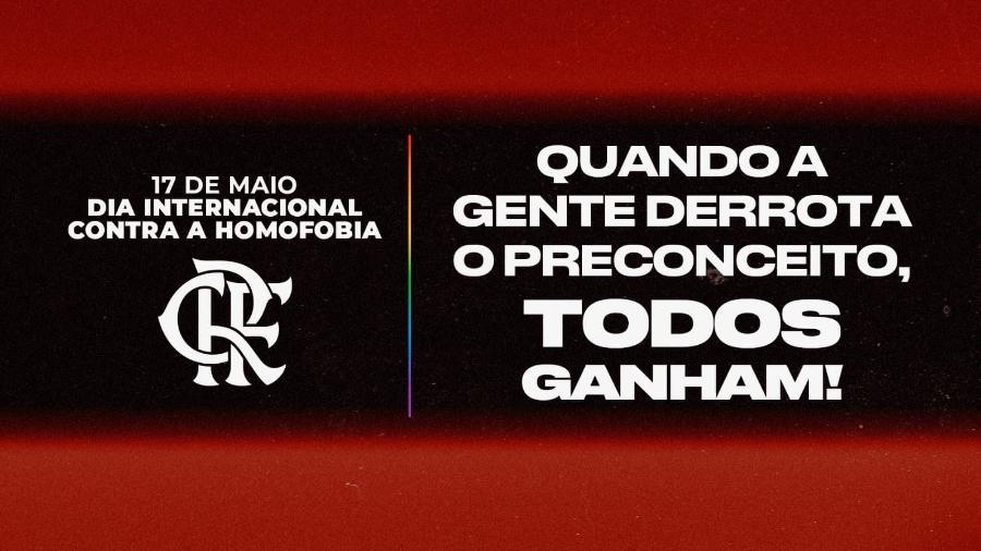 Flamengo comemora o Dia Internacional Contra a Homofobia  - Twitter